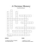 """A Christmas Memory"" Vocabulary Crossword Puzzle (Capote)"