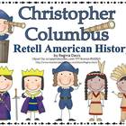 A+ Christopher Columbus History Retelling Cards and Word Wall