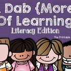 A Dab {More} of Learning: Literacy Edition (Bingo Dabber A