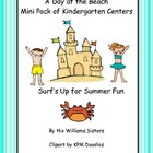 A Day at the Beach Mini Pack of Centers for Kindergarten