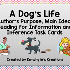 A Dog's Life - Reading Skills Task Cards
