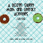 A Dozen Sweet Math and Literacy Activities