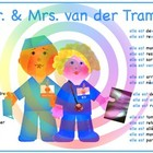 A Dr. & Mrs. van der Tramp poster and 5 pages of related material