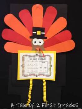 A Fact Family of Feathers Turkey Craftivity