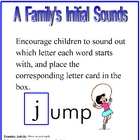 A Family's Initial Sound Activity