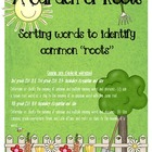 A Garden of Roots lesson and center pack for common core s
