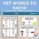 A Key to Word Problems!! Essential words for the four operations!