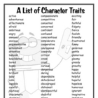 A List of Character Traits