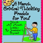 A March Critical Thinking FREEBIE for You!  (Youth Art Mon
