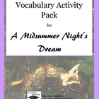 A Midsummer Night's Dream Vocabulary Activities and Quizzes