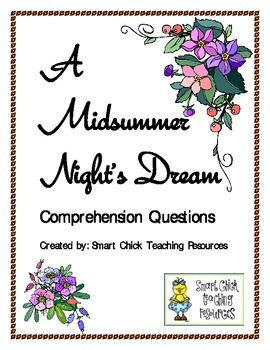 """""""A Midsummer Night's Dream"""", by Shakespeare, Comp. Questions"""