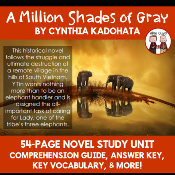 A Million Shades of Gray Reading Comprehension Activity Guide