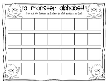 A Monster Alphabet {FREE!}