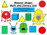 A + Monster Shapes Math And Literacy Unit
