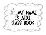 A My Name Is Alice Class Book