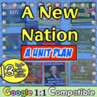 A New Nation Unit: 15 fun lessons for Washington, Adams, J