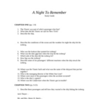 A Night To Remember - Complete Study Guide