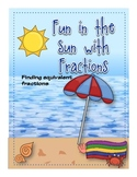 A Not So Wimpy File Folder Game: Fun in the Sun with Fractions