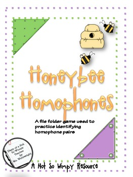 A Not So Wimpy File Folder Game: Honeybee Homophones