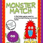 A Not So Wimpy File Folder Game: Monster Match (Nouns and Verbs)