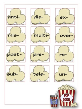 A Not So Wimpy File Folder Game: Poppin' Prefixes
