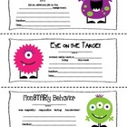 A Note from Your Teacher: Monster Themed Parent-Teacher Notes
