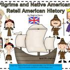 A+ Pilgrims And Native Americans: History Retelling Cards