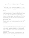 A Primer on Experimental Method for the Teacher in Doubt