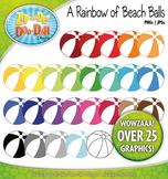 A Rainbow of Beach Balls Clipart — Over 25 Graphics!