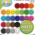 A Rainbow of Smiley Faces Clipart — Over 25 Graphics!