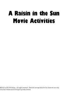 A Raisin in the Sun Movie Activities and Follow-Along Questions