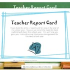 A Report Card for the Teacher