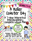 A Roller Coaster Day 7-Hour Complete Sub Plan Thematic Uni