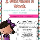 A Sentence a Week- Working with Sentences to improve writi