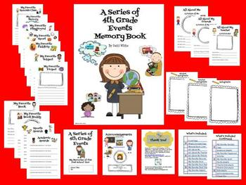 A Series of 4th Grade Events Memory Book
