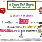 A Shape Is A Shape...No Matter How Small (Poem)