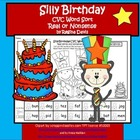 A + Silly Cat Birthday CVC Word Sort: Real Or Nonsense Words