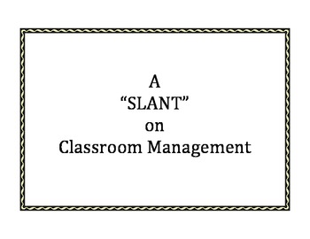 A Slant on Classroom Management Posters
