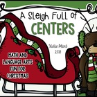A Sleigh Full of Centers {Christmas Math and Language Arts