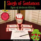 A Sleigh of Sentences {Activity for Kinds of Sentences}