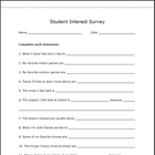 A Student Interest Survey