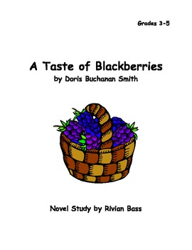 A Taste of Blackberries novel study