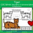 A + Tiger CVC Word Sort: Real Or Nonsense Words