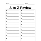 A To Z Review--Summarization Activity