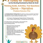 A Turkey for Thanksgiving by Eve Bunting Activities and Te