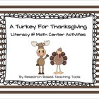 A Turkey for Thanksgiving by Eve Bunting Lesson Plan and A