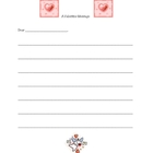 A Valentine Message - writing paper