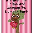 A Valentine Prime and Composite Number Sort