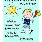 Summer Lesson Plans: Pre-K, Kindergarten - Ocean, Insects,