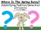 A+  Where Is The Spring Bunny?  Identifying Position and D